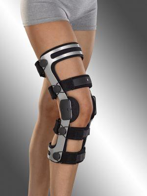 Ortéza kolenního kloubu s pevným rámem