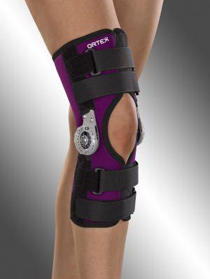 Ortéza kolenního kloubu léčebná, krátká, s přestavitelným rozsahem pohybu