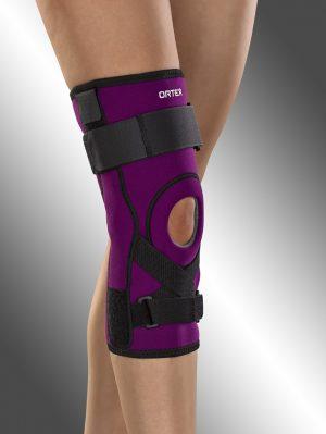 Ortéza kolenního kloubu léčebná, krátká s dvouosými klouby a tahem